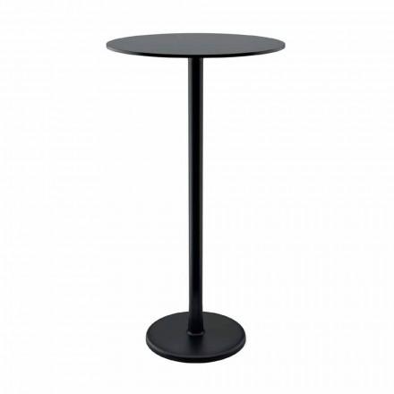 Wysoki stół zewnętrzny z żeliwa metalowego i HPL Made in Italy - Chester