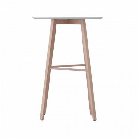 Stolik kawowy wysoki lub niski z drewna dębowego i białego blatu - Langoustine