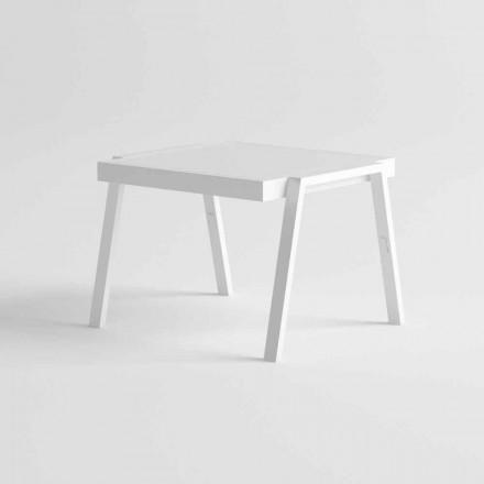 Nowoczesny stolik kawowy z aluminium i HPL - Carmine2