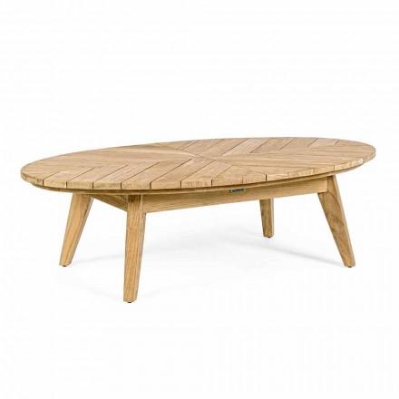 Stolik kawowy na zewnątrz z drewna tekowego z owalnym blatem, Homemotion - Ricardo