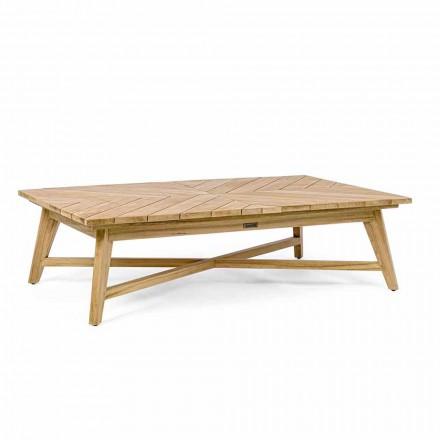 Prostokątny stolik kawowy na zewnątrz z drewna tekowego, Homemotion - Stuart