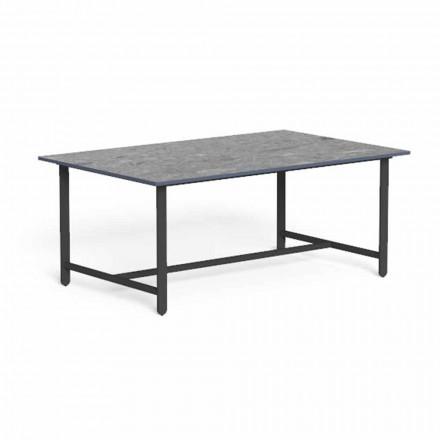 Niski stolik ogrodowy z aluminium i luksusowego gresu - Riviera firmy Talenti