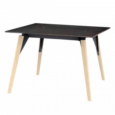 Stolik kawowy z efektem drewna i marmuru, 3 kolory, 2 rozmiary - Faz Wood firmy Vondom