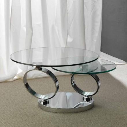 Stolik z 2 blatai szklanymi model Chieti