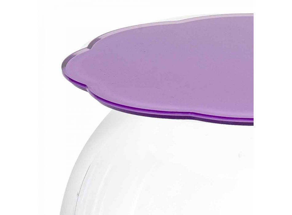 Biffy okrągły stół / pojemnik w kolorze lawendy, nowoczesny design