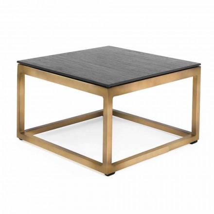 Kwadratowy stolik na zewnątrz 2 Wymiary 3 Wykończenia - Julie