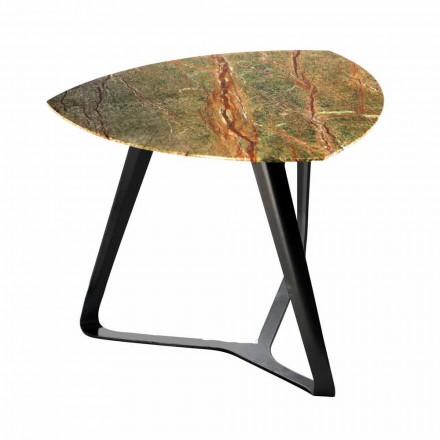 Ręcznie wykonany stolik kawowy z luksusowym marmurowym blatem Made in Italy - Royal