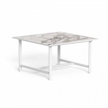 Stolik ogrodowy, kwadratowy z aluminium i gresu - Riviera firmy Talenti