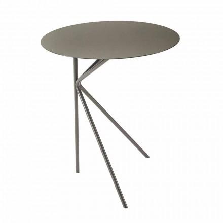 Okrągły metalowy stolik kawowy, projekt w różnych kolorach i 2 rozmiarach - Olesya
