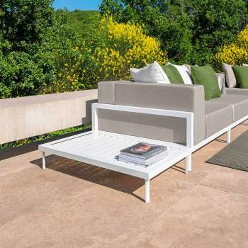 Aluminiowy prostokątny stolik kawowy na zewnątrz - Cleo Alu firmy Talenti