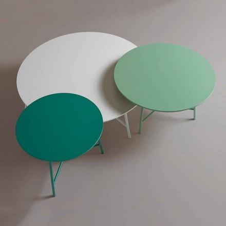 Kolorowy, nowoczesny okrągły stolik kawowy do salonu - Boogie
