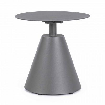 Stolik kawowy na zewnątrz z malowanego aluminium z okrągłym blatem, Homemotion - Tafari