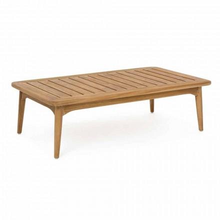 Homemotion Nowoczesny stół ogrodowy z drewna tekowego - Luanaedmea