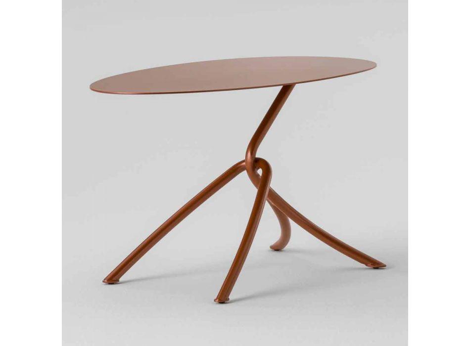 Cenny stolik kawowy na zewnątrz z malowanego metalu Made in Italy - Lubeck