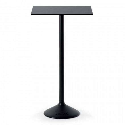 Wysoki kwadratowy stół zewnętrzny z żeliwa HPL Wykonany we Włoszech - Crispian