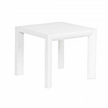 Kwadratowy stolik kawowy na zewnątrz Malowany Aluminium, Homemotion 2 sztuki - Marius