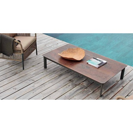 Designowy stół zewnętrzny wykonany z malowanego aluminium System firmy Varaschin