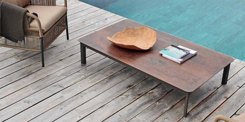 Varaschin System zewnętrzny stół projektowy z malowanego aluminium