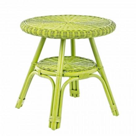 Okrągły stolik ogrodowy z rattanu, średnica 52 cm - Favolizia