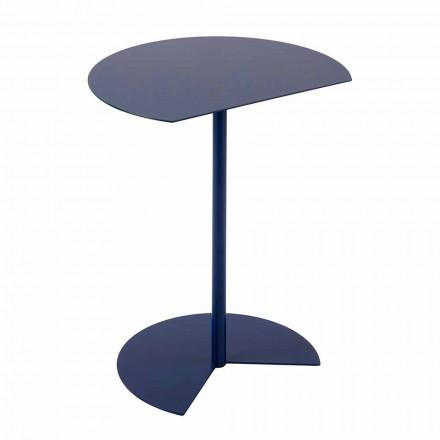 Nowoczesny, kolorowy stolik ogrodowy z metalu w 3 rozmiarach - Cettina