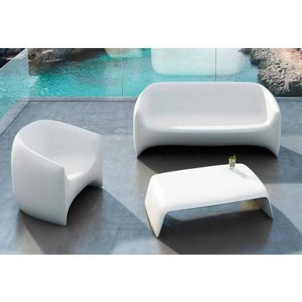 Stolik kawowy ogrodowy wykonany z polietylenu Blow Vondom, nowoczesny design