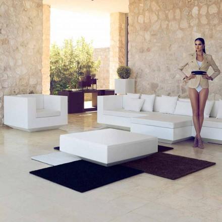 Stolik ogrodowy kwadratowy Vela Vondom, nowoczesny design z polietylenu