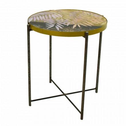 Stolik kawowy do wnętrz lub na zewnątrz z metalową konstrukcją Made in Italy - Carim
