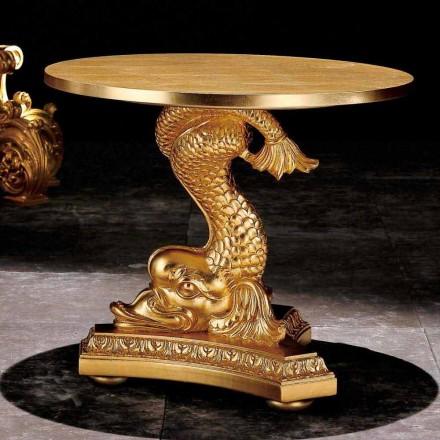 Stolik kawowy klasyczny wykonany z drewna litego model Ciro