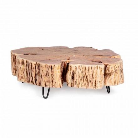 Stolik kawowy Homemotion z kształtowanym blatem z drewna akacjowego - Nabucco