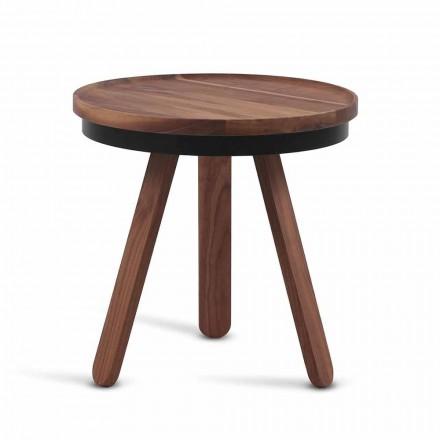 Zaprojektuj stolik kawowy z okrągłym blatem i nogami z litego drewna - Salerno