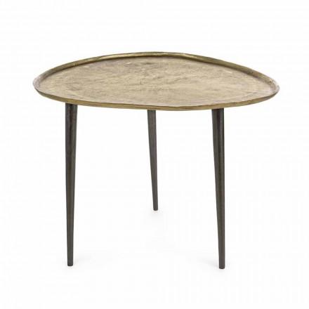 Stolik kawowy Homemotion Design z aluminiowym blatem - Yamila