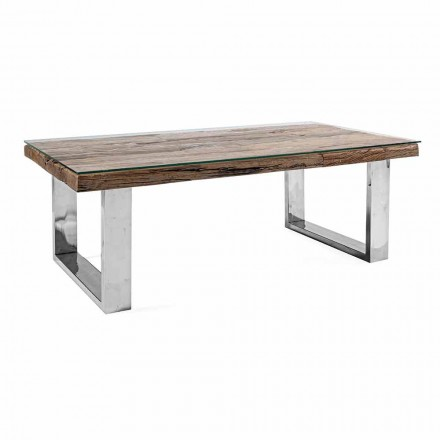 Zaprojektuj stolik kawowy z drewna, szkła i stali Homemotion - Frederic