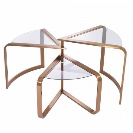 Zaprojektuj stolik kawowy ze szkła z miedzianymi detalami - Carpi
