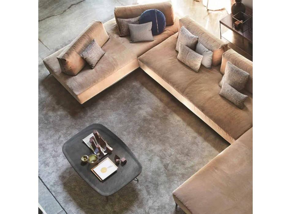 Cementowy stolik kawowy z metalową konstrukcją Made in Italy - Evolve