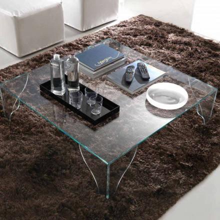 Stolik kawowy z wyjątkowo przezroczystego przezroczystego kryształu Made in Italy - Lithium