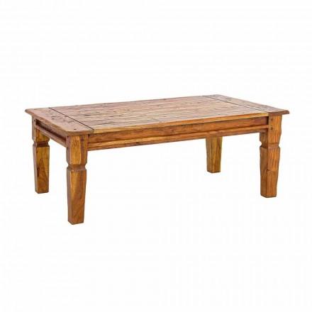 Stolik kawowy z litego drewna akacjowego Homemotion Classic Design - Remo