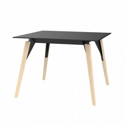 Stolik kawowy z drewna i HPL Różne kolory 2 rozmiary - Faz Wood firmy Vondom