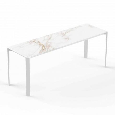Nowoczesny stolik kawowy do wnętrz lub na zewnątrz z aluminium - tablet firmy Vondom