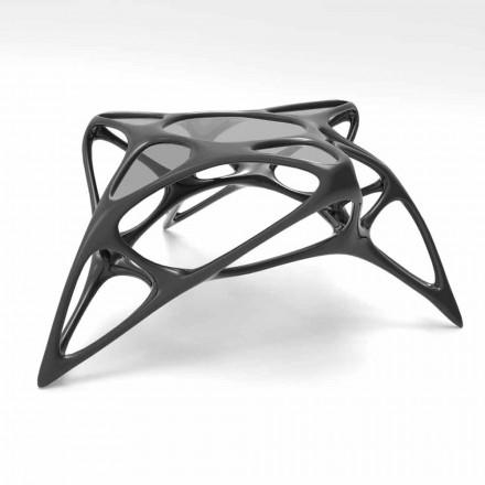 Stolik kawowy ze szkła i Solid Surface® Lunar Table#2