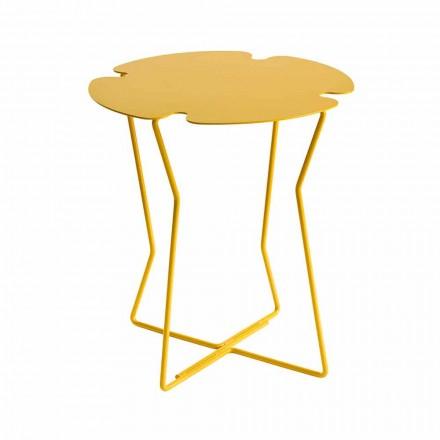 Nowoczesny stolik kawowy w kolorze metalowym zewnętrznym - Kathrin
