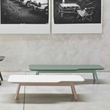 Cenny stolik kawowy z litego drewna jesionowego Made in Italy - Ulm