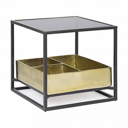Kwadratowy stolik kawowy Homemotion ze szklanym blatem - Sigismondo