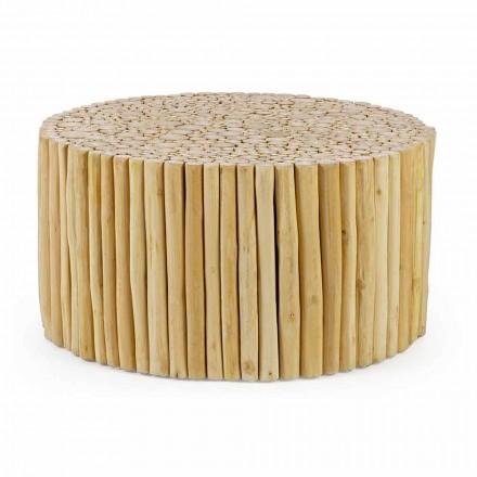 Okrągły stolik kawowy utworzony przez Homemotion Teak Branches - Sprig