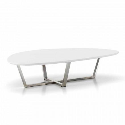 Stolik w nowoczesnym kształcie z białym blatem z MDF - gotowy