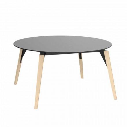 Okrągły drewniany stolik kawowy i blat HPL w 2 rozmiarach - Faz Wood firmy Vondom