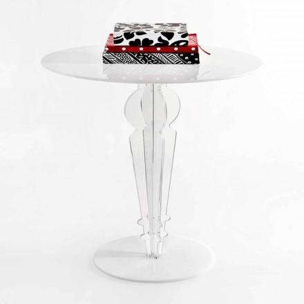 Klasyczny stolik w akrylowym krysztale H 64 cm, Cles