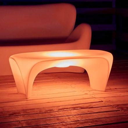 Stolik kawowy podświetlany RGB do projektowania na zewnątrz lub do wnętrz z tworzywa sztucznego - Lily od Myyour