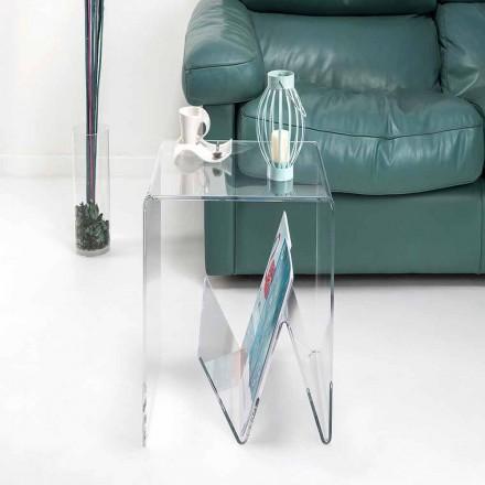 Nowoczesny design małego stolika / stojaka na czasopisma, w pleksi, Cavour