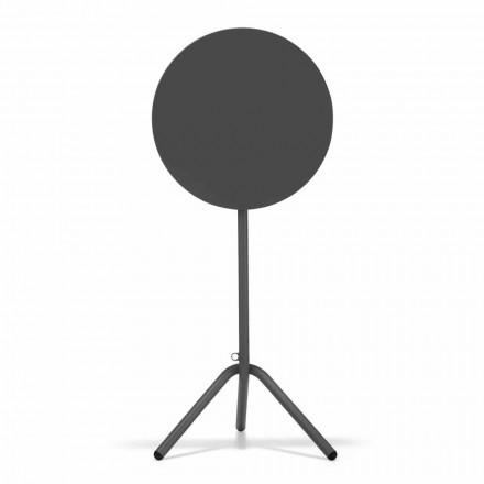 Okrągły wysoki stół zewnętrzny z blachy i blachy wyprodukowany we Włoszech - Baldric