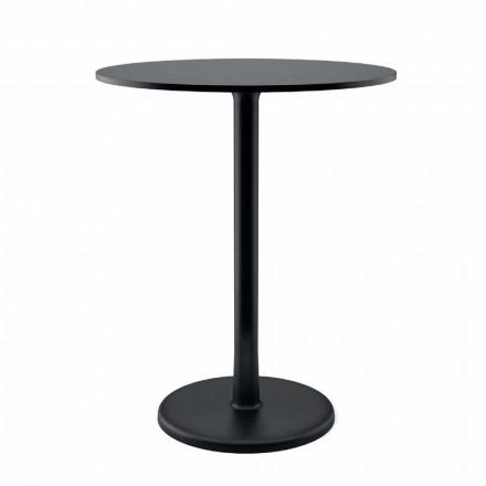 Okrągły stolik kawowy na zewnątrz z metalu, żeliwa i HPL Made in Italy - Brooks